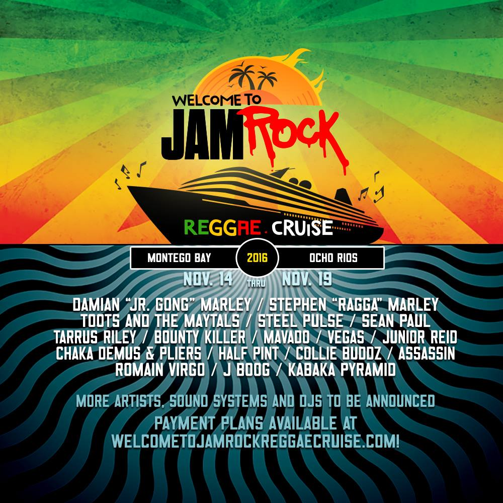 welcome to jamrock Official welcome to jamrock cruise pre-party please join us for the jamrock pre-party in ft lauderdale on sunday, november 13, the night before we sail this is a free party and open to the public so we expect it to be full.
