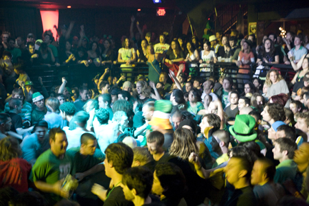Green Go! The Lucky St. Patrick's Day Revolution Live Crowd Was Loving The Vibe!